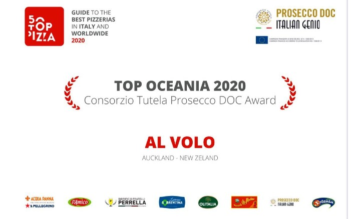 Al Volo Pizza, one of the Top Pizzeria in Oceania 2020: congratulations!